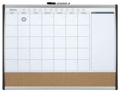 Magnetická a korková plánovací tabule Rexel - 58,5 x 43 cm, kombinovaná