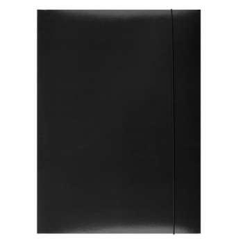Papírové desky s gumičkou A4, černá