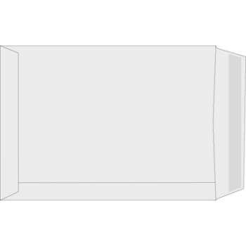 Tašky obchodní C4 Office Depot - obyčejné, navlhčovací lepidlo, bělený recykl, 250ks