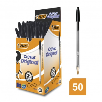 Kuličkové pero BIC Cristal - černé