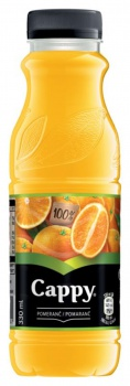 Džus Cappy - pomeranč 100%, 12x 0,33 l