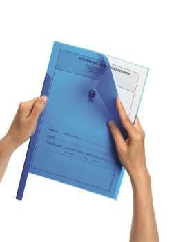 Desky pro spínací hřbetní lišty A4, modrá , 50 ks