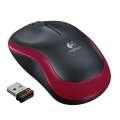 Bezdrátová myš Logitech M185 - optická - červená
