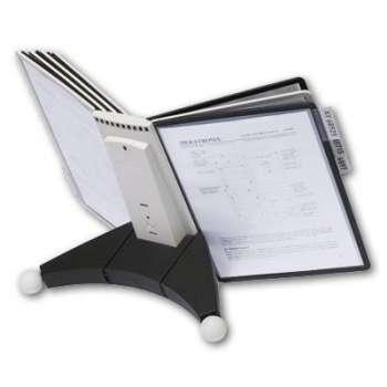 Pultový stojan Durable Sherpa - A4, 10 kapes, černý/šedý