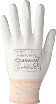 Pracovní rukavice Pure Touch - máčené, velikost 8, bílé