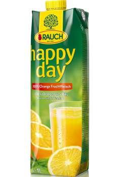 Džus HAPPY DAY - pomeranč s dužinou 100 %, 1 l