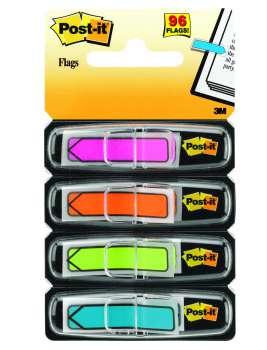 Plastové samolepicí záložky Post-it ve tvaru šipky -  mix neonových barev, 4 x 24 ks
