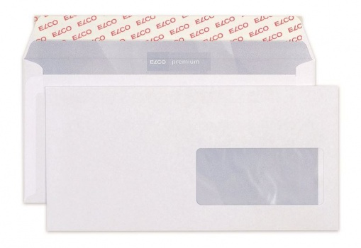 Obálky Elco - C6/5, samolepicí s krycí páskou, s okénkem vpravo, 200 ks