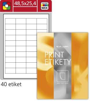 Samolepicí barevné etikety SK Label - mix barev, 48,5 x 25,4 mm, 4000 ks