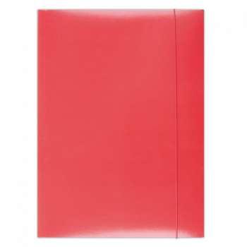 Papírové desky s gumičkou A4, červená