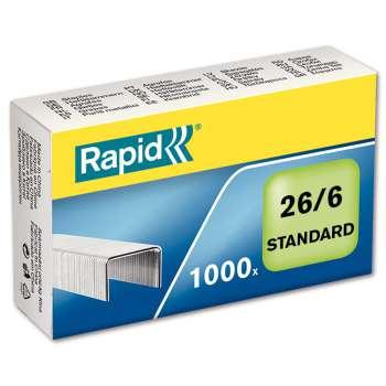 Drátky Rapid Standard 26/6, 1000 ks