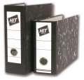 Pákový  pořadač A5 na výšku HIT Office - šíře hřbetu 8 cm, mramor černý