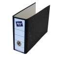 Pákový  pořadač A5 na šířku HIT Office - šíře hřbetu 8 cm, mramor černý
