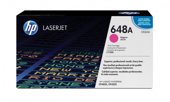 Toner HP CE263A/648A - purpurová