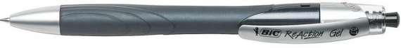Gelový roller Bic Reaction - černá, 0,35 mm