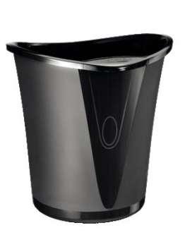 Odpadkový koš LEITZ Allura - plastový, černý