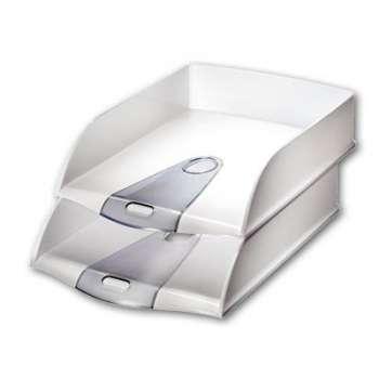 Zásuvka LEITZ Allura - A4+, plastová, bílá