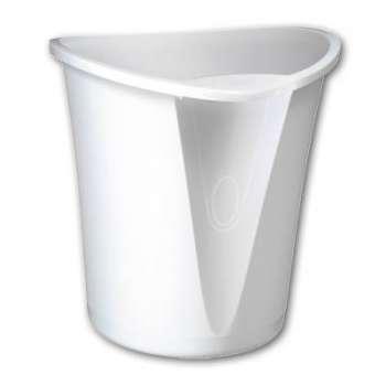 Odpadkový koš LEITZ Allura - plastový, bílý