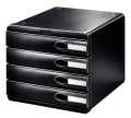 Zásuvkový box LEITZ Allura - A4+, 4 zásuvky, plastový, černý