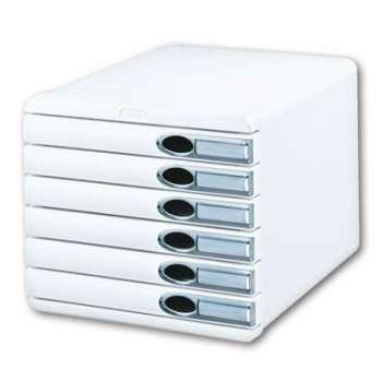 Zásuvkový box LEITZ Allura - A4+, 6 zásuvek, plastový, bílý