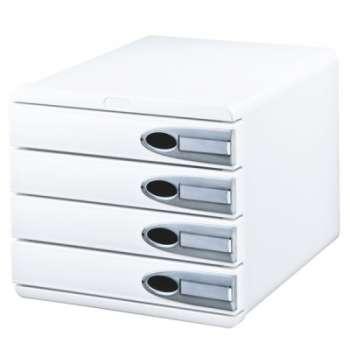 Zásuvkový box LEITZ Allura - A4+, 4 zásuvky, plastový, bílý