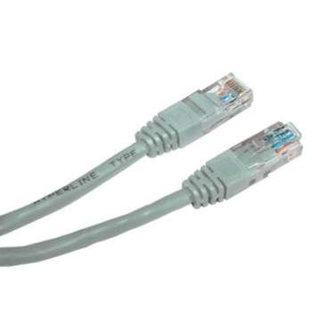 Síťový kabel CAT 6 UTP 5 m, šedý