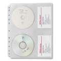 Obaly závěsné na 4 CD/DVD, 10 ks