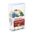 Připínáčky Office Depot - barevné, 100 ks