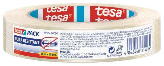 Balicí páska Tesa - čirá, 25 mm x 50 m, extra pevná, 1 ks