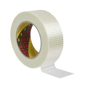 Balicí páska Scotch se skelným vláknem - 50 mm x 50 m, čirá