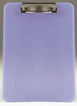 Jednodeska Office Depot s klipem A4, transparentní modrá