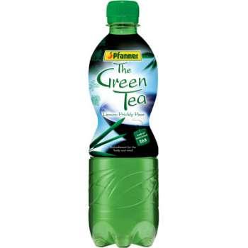 Zelený čaj Pfanner-citron a kaktus, 12x 0,5 l