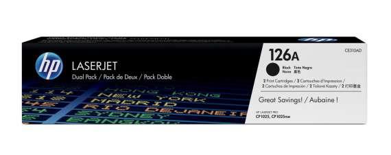 Toner HP CE310AD/126A - černá, dvojbalení