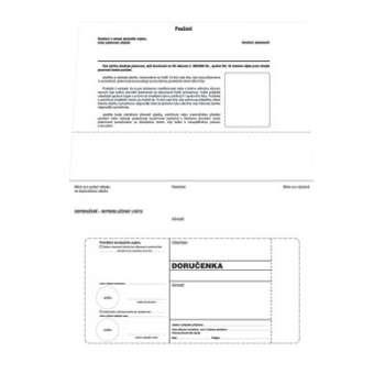 Obálky B6 - Doručenka o správním řízení - bílá, samolepicí, 100 ks