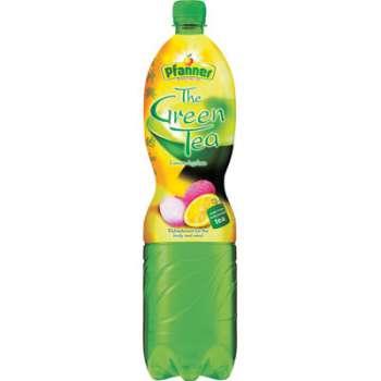 Zelený čaj Pfanner - citron a lychee, 6x 1,5 l