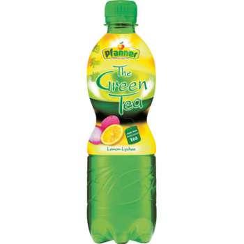 Pfanner zelený čaj - citron a lichi, 12 x 0,5 l