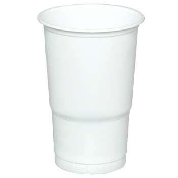 Plastový kelímek - 0,5 l, bílé, 50 ks