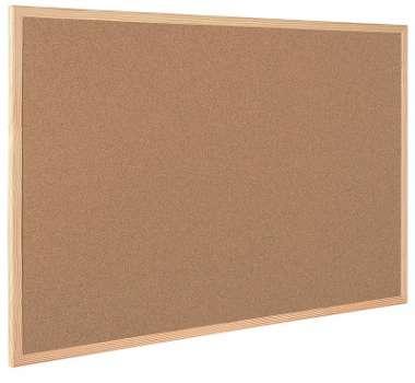 Korková nástěnka - 60 x 45 cm, dřevěný rám
