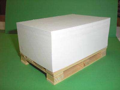 Papírový bloček - lepený, na paletce, 12,0 x 8,0 cm