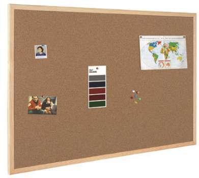 Korková nástěnka - 120 x 90 cm, dřevěný rám
