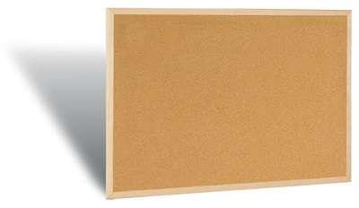 Korková nástěnka - 90 x 60 cm, dřevěný rám