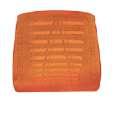 Opěrák k židli a křeslu Taylor, oranžový