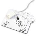 Podložka pod myš - bílá s motivem