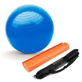 DÁREK: Dárková sportovní sada SPORTWELL - balanční míč + podložka na jógu