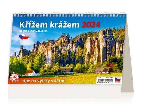 Stolní  kalendář 2018  Křížem krážem Českou republikou