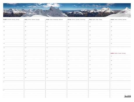 Týdenní plánovací mapa A2 s fotografií