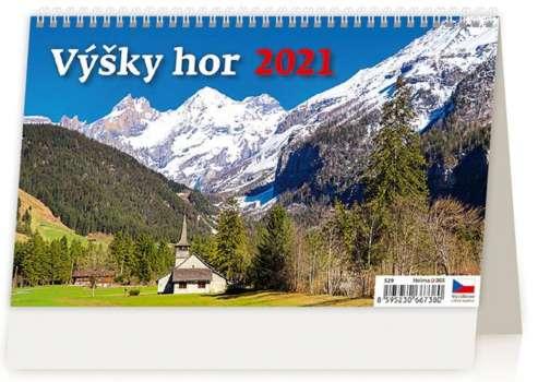 Stolní  kalendář 2018  Výšky hor