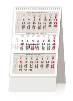 Stolní kalendář 2017 MINI tříměsíční kalendář