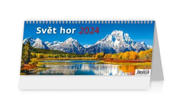 Stolní  kalendář 2018  Svět hor