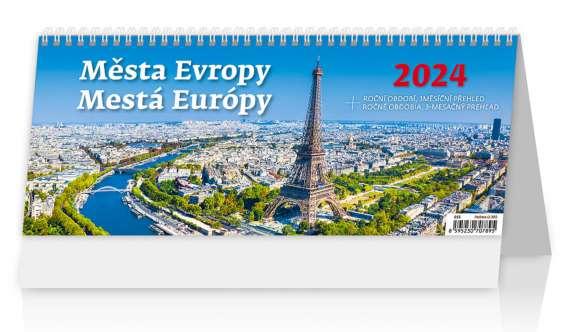 Stolní  kalendář 2018  Města Evropy/Mestá Európy